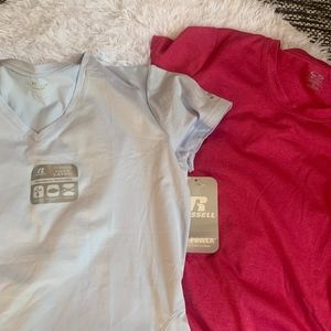 workout tops size L, one with tags